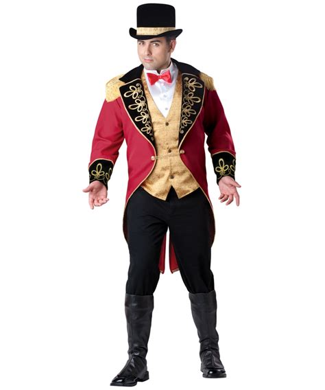 mens ringmaster costume adult ringmaster plus size circus costume