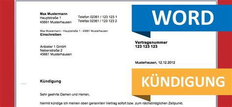 Musterbrief Kündigung Telekom Umzug Kndigung Auf Nummer Sicher Immer Schriftlich Kndigungsrecht Kndigung Mietwohnung Vorlage