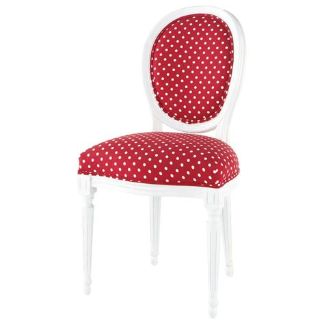 chair with white polka dots louis louis maisons du
