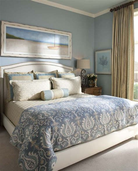 coastal master bedroom ideas pillow arrangement three tall square pillows across the