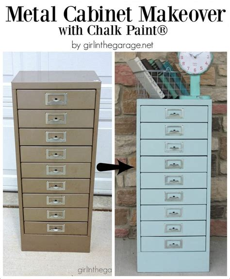 diy chalk paint metal best 25 painting metal cabinets ideas on