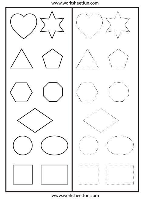 shapes tracing worksheet preschool worksheets