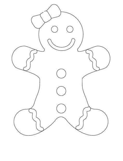 smile gingerbread girl coloring pages party pinterest