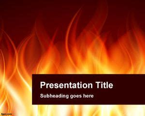 powerpoint templates free download fire burning powerpoint template