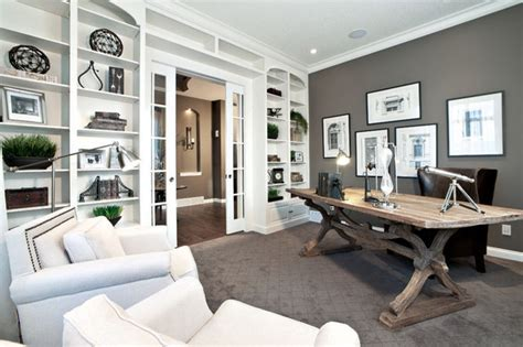 Contemporary Home Office | delmar lotto home previous showhome by shane homes