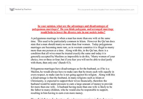 Polygamy Essay by Disadvantages Of Arranged Marriages Essay Disadvantages Of Arranged Marriage Saching