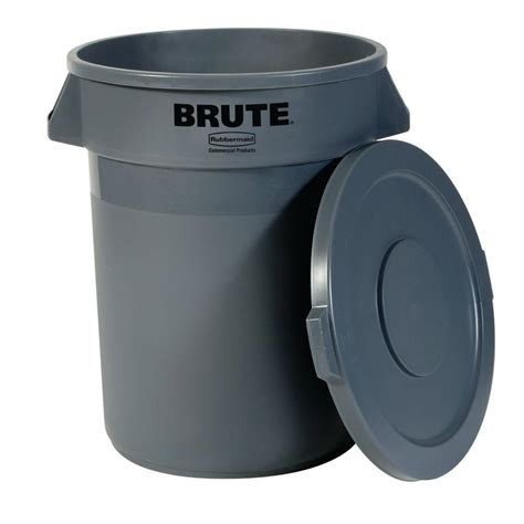 rubbermaid trash rubbermaid commercial products brute 20 gal grey