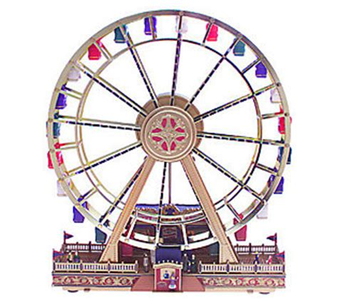 mr christmas worlds fair musical ferris wheel qvc com