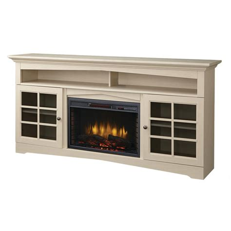 white electric fireplace media console home decorators collection avondale grove 59 in media console infrared electric fireplace in