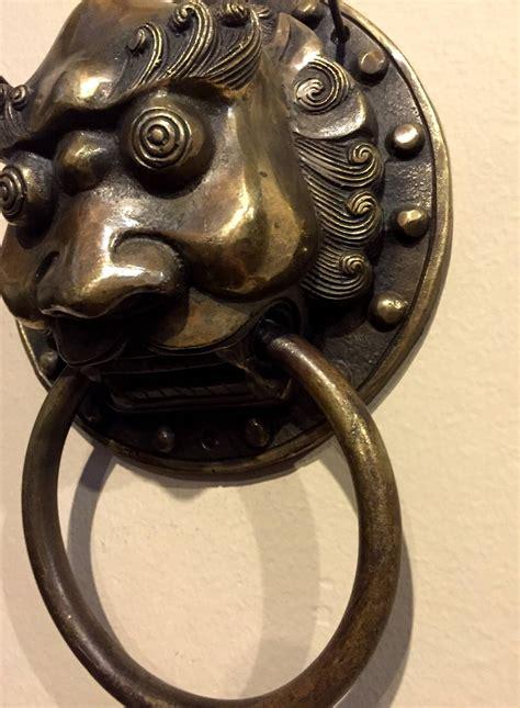 Door Knockers For Sale by Pair Of Brass Door Knockers With Guardian Motifs