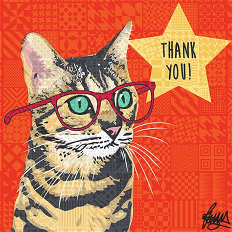 Independent Kitchen Designer bengal cat thank you card by rose hill designs thanks henry