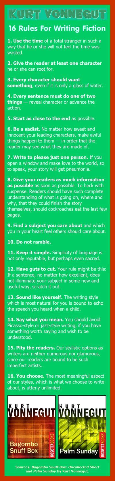Kurt Vonnegut Essay by Kurt Vonnegut 16 For Writing Fiction Book Marketing Bestsellers