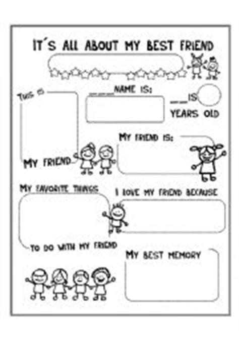 It´s all about my best friend - ESL worksheet by luciaphdezc