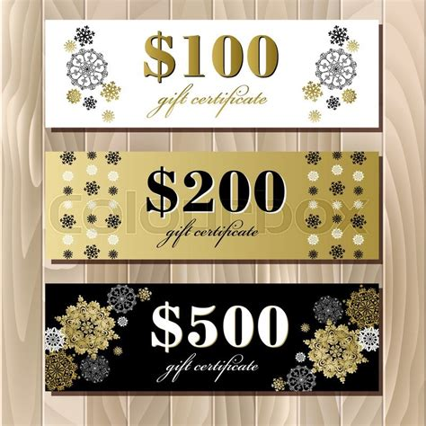luxury gift card template gift certificate big sale discount card or voucher