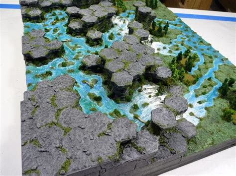 how to make 3d hexagon maps for axis allies miniatures foam jungle 3d hex miniature gaming map miniature gaming