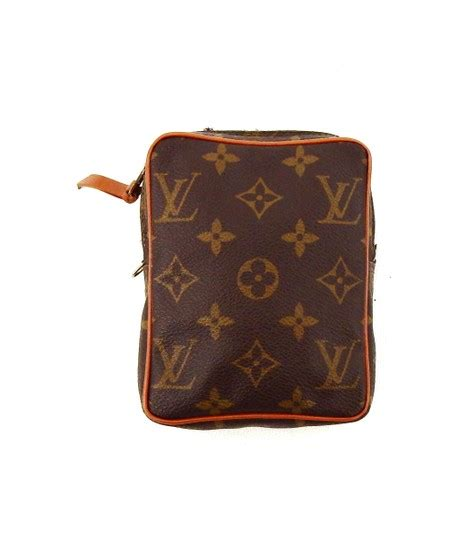 louis vuitton brown monogram canvas leather danube