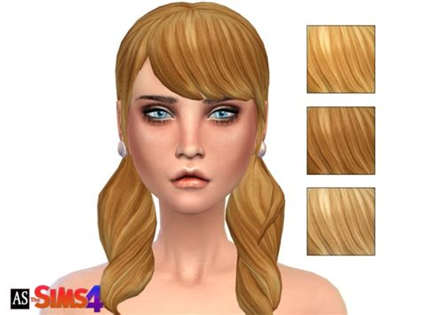 sims 3 pigtails with bangs alexandra sine s dark golden blonde pigtails long wavy bangs