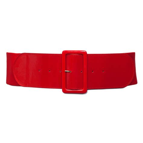 plus size wide patent leather fashion belt evogues