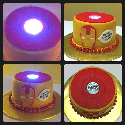 Strawberry Shortcake Birthday Decorations Iron Man Cake With Quot Working Quot Arc Reactor Cakecentral Com
