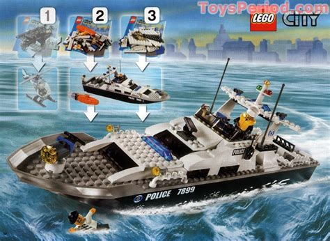italian fire boat lego 7899 police boat set parts inventory and instructions