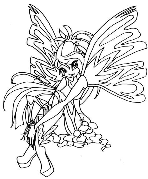 winx club bloom sirenix coloring pages coloring pages