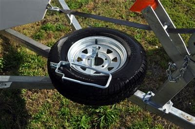 drift boat trailer winch strap spare tire carrier lockable