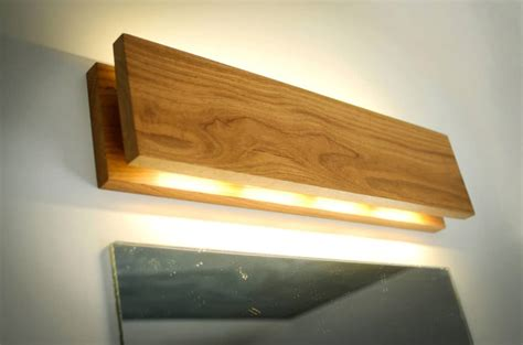Handmade Oak Wooden Sconce Id Lights Handmade Lights