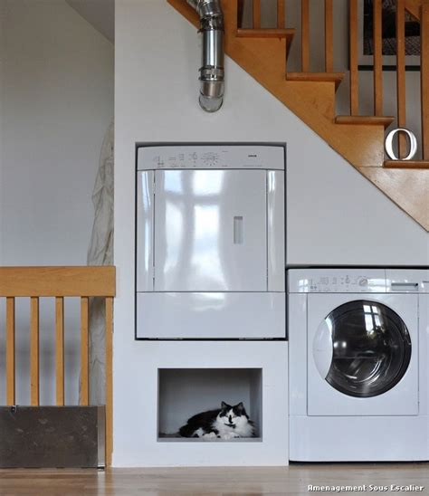 Crafstman by Amenagement Sous Escalier With 201 Clectique Buanderie