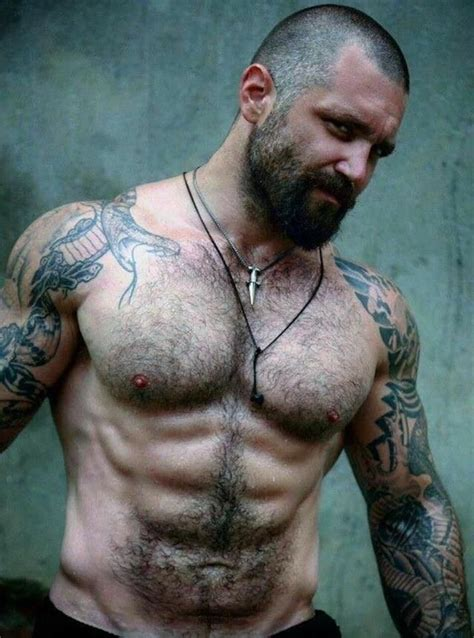 sexy tattoo men fitguys silver foxs daddies yummmm