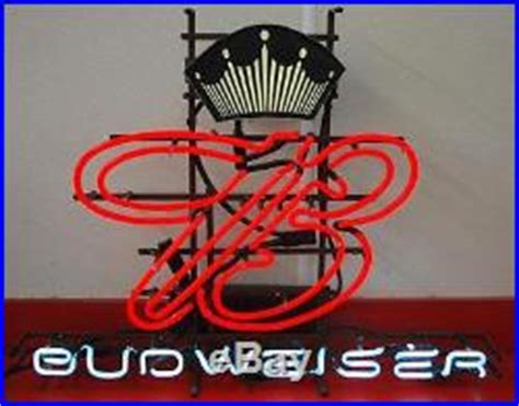 what were beer neon colors in the 50s and 60s vintage 1950 s 1960 s budweiser crown b neon light sign 23 x 30 vintage neon sign
