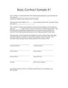 simple contract template best business template