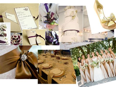 wedding themes gold and cream cream and gold or purple and cream theme you choose