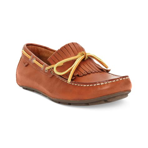 top loafers for sperry top sider wave driver kiltie loafers in brown for