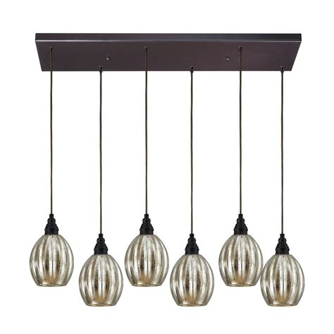 Multi Glass Pendant Lights with Multi Light Pendant Light With Mercury Glass And 6 Lights 46007 6rc Destination Lighting