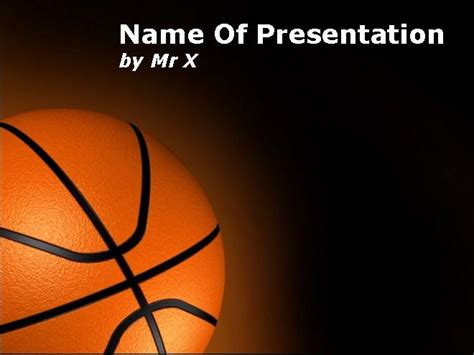 basket ball over black background powerpoint template