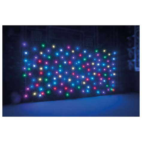 rgb led curtain showtec star sky pro ii 6x4m black cloth rgb leds incl