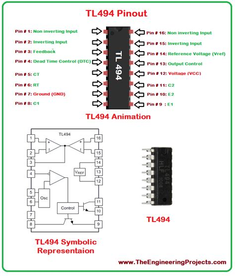 Tl494 Inverter Circuit by Introduction To Tl494 The Engineering Projects