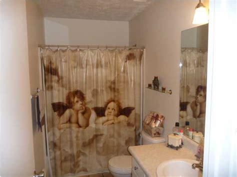 cherub bathroom accessories shower curtain two angels cherubs bathroom panama city