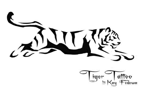 tiger tattoo outline designs simple tiger designs