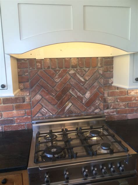 backsplash display vintage brick veneer
