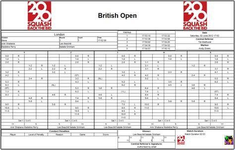 score sheet the score sheet squashscorer
