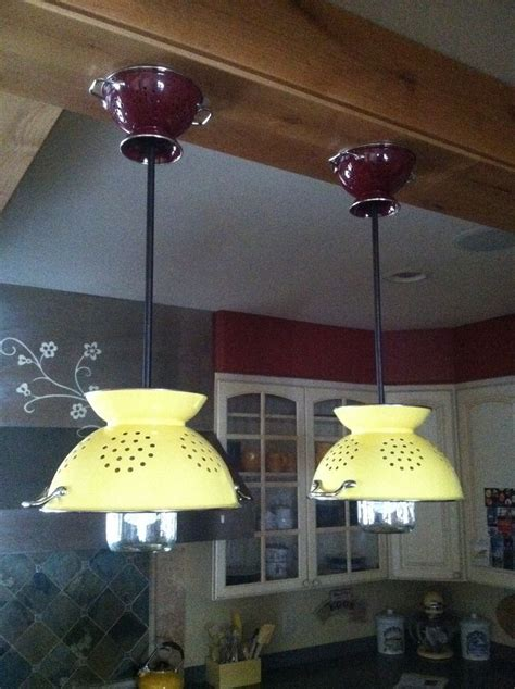 diy kitchen lighting ideas 25 best ideas about colander light on diy