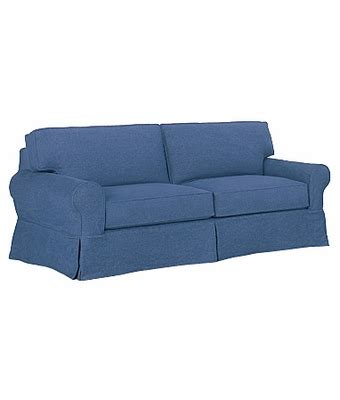 Denim Sleeper Sofa Denim Slipcover Sofa Blue Slipcovered Sofa