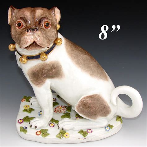 porcelain pug antique dresden porcelain pug 8 quot painted with from antiques