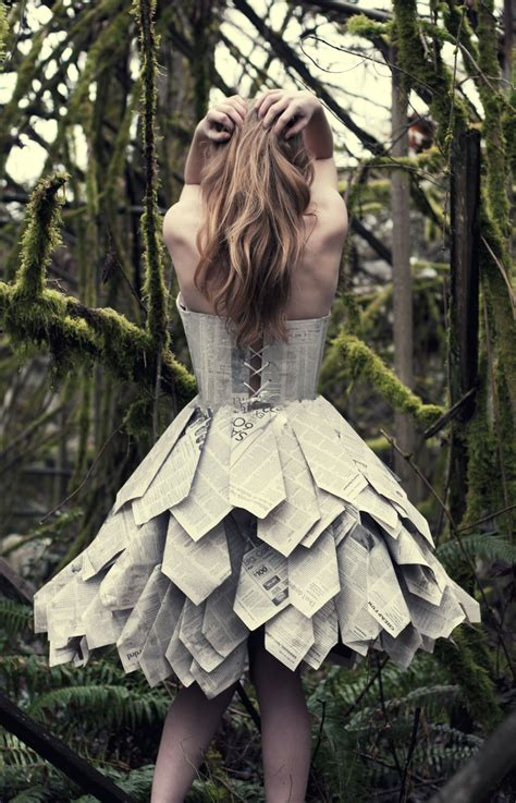 Clothes Out Of Paper - paper dress back by swimming up currents deviantart