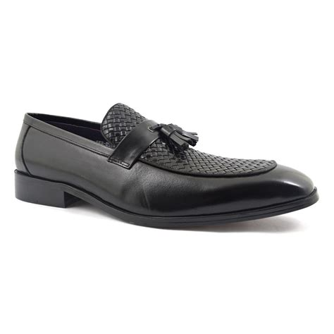 buy black loafers buy black tassel loafer mens shoes gucinari