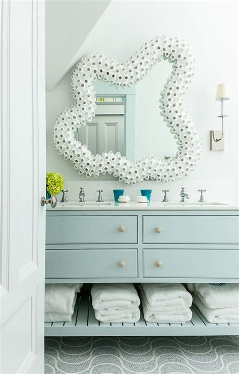 Coastal Bathroom Mirrors by House Of Turquoise Coastal Bathrooms And Mirror On
