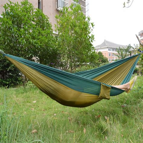 amaca travel parachute fabric hammock for two person lover family