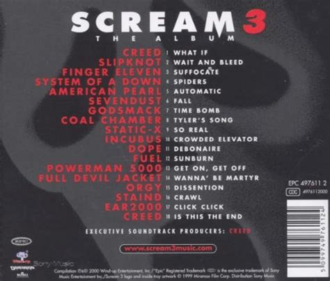 soundtrack list scream 3 ost at shop ireland