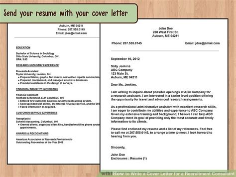 cover letter for recruitment consultant how to write a cover letter for a recruitment consultant